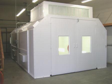 Milwaukee Semi Downdraft Paint Booths Final Process